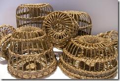 Pile of lobster pots